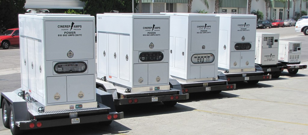 Tow Generators lineup 165 to 1800  amps