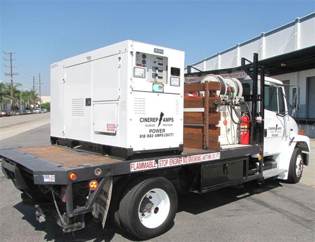 Truck mounted 600 amp generator
